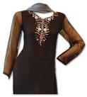 Black/Sky Blue Chiffon Suit- Indian Semi Party Dress