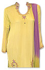 Yellow/Purple Chiffon Suit