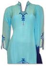 Light Blue/Navy Blue Chiffon Suit