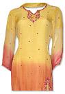 Yellow/Orange Chiffon Suit- Indian Semi Party Dress