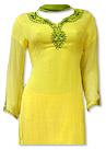 Yellow Chiffon Suit- Indian Semi Party Dress
