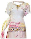 White/Magenta Chiffon Suit- Indian Dress
