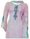 Pink/Navy Blue Chiffon Suit