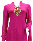Hot Pink/Lime Green Chiffon Suit- Indian Semi Party Dress