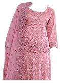 Tea Pink Jamawar Silk Lehnga