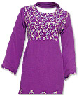 Purple Georgette Trouser Suit- Pakistani Casual Dress