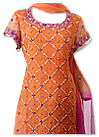 Orange/Hot Pink Crinkle Chiffon Suit