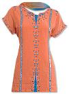 Orange/Blue Chiffon Trouser Suit- Indian Semi Party Dress