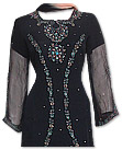 Black/Turquoise Chiffon Suit- Indian Semi Party Dress