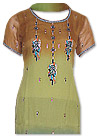 Brown/Green/Blue Chiffon Suit - Indian Semi Party Dress