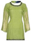 Parrot Green/Blue Chiffon Suit- Indian Semi Party Dress