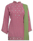 Tea Pink/Green Georgette Suit