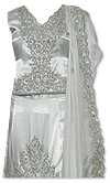 White Silk Lehnga