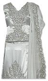 White Silk Lehnga - Pakistani Bridal Dress