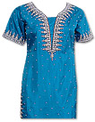 Turquoise Pure Silk Suit