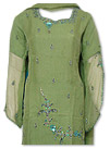 Green Chiffon Suit- Indian Semi Party Dress