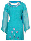 Sea Green/Turquoise Chiffon Suit- Indian Semi Party Dress