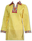 Yellow/Red Cotton Suit- Pakistani Casual Clothes