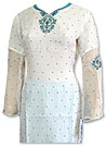 White/Turquoise Chiffon Suit- Indian Dress