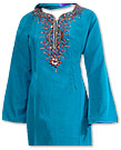 Turquoise/Purple Georgette Suit- Indian Dress