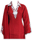 Red/White Chiffon Suit