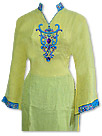Yellow/Blue Chiffon Suit- Indian Dress