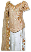 Golden/White Jamawar Lehnga- Pakistani Wedding Dress