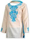Skin /Turquoise Cotton Khaddar Suit- Pakistani Casual Dress