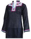 Black Cotton Khaddar Suit- Pakistani Casual Dress