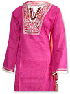 Hot Pink/Skin Cotton Khaddar Suit- Pakistani Casual Clothes