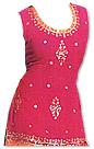 Magenta/Orange Chiffon Suit- Indian Semi Party Dress