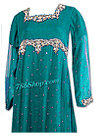 Sea Green Chiffon Anarkali Suit