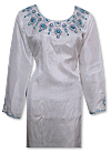 White Raw Silk Suit- Indian Semi Party Dress