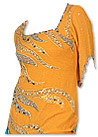 Mustard/Turquoise Chiffon Trouser Suit- Indian Semi Party Dress
