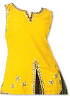 Yellow/Green Chiffon Trouser Suit- Indian Dress