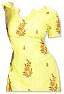 Yellow Georgette Trouser Suit- Pakistani Casual Dress
