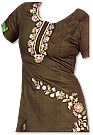 Dark Brown Georgette Suit- Pakistani Casual Dress