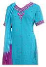 Turquoise/Magenta Chiffon Suit - Indian Dress