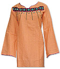 Peach Cotton Khaddar Suit- Pakistani Casual Dress