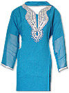 Turquoise Chiffon Suit- Indian Dress