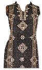 Black/Brown Crinkle Chiffon Suit