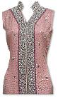 Tea Pink Crinkle Chiffon Suit