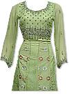 Pistachio Green Crinkle Chiffon Suit