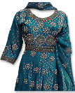 Teal Green Chiffon Jamawar Suit
