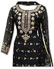 Black/Golden Chiffon Jamawar Suit
