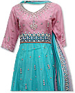 Pink/Turquoise Crinkle Chiffon Suit