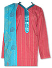 Tea Pink/Turquoise Khaddar Suit - Pakistani Casual Clothes