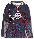 Navy Blue Crinkle Chiffon Suit- Pakistani Casual Dress