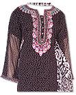 Black Crinkle Chiffon Suit- Pakistani Casual Dress
