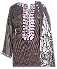 Brown Crinkle Chiffon Suit- Pakistani Casual Clothes